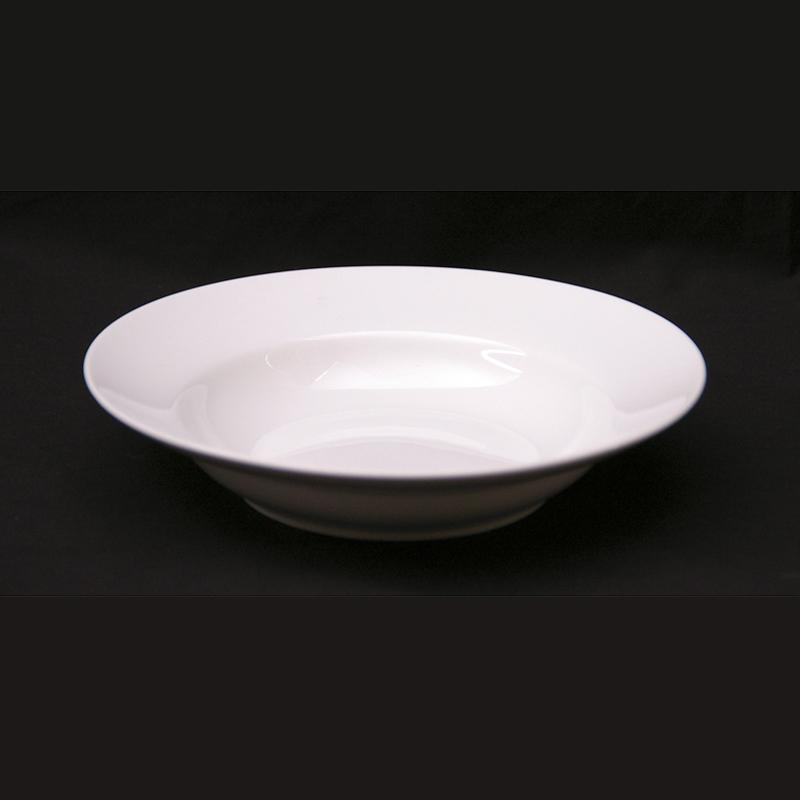 White soup plate